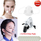 Washable Respirator Clear Mask Face Mouth Cover Filters Face Shield  Reusable