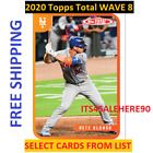 2020 Topps Total WAVE 8 Singles - YOU PICK - ALL CARDS AVAILABLE - FREE SHIPPINGBaseball Cards - 213
