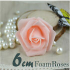 Large 6 cm Artificial Colourfull Flowers Foam Rose Heads Wedding/ Party Decor
