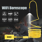 8LED WiFi Endoscope Borescope Inspection HD 1200P Camera IP68 For iOS Androi