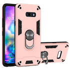 For LG G8X ThinQ / V50S ThinQ Magnetic Ring Stand Shockproof Armor Case Cover