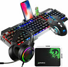 Wired RGB Backlit Gaming Keyboard Mouse and 7.1 Headset Combo With RGB Backlight