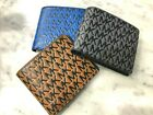 Michael Kors Cooper Raise Logo Passcase ID Billfold Wallet Leather 3 colors 138