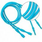 4 Turquoise Blue Silicone Necklace Cords Funky Rubber Snap Add Pendant Pick Size
