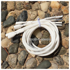 4 White Silicone Necklace Cord Funky Rubber Snap Add Pendant Pick Size