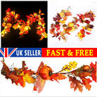 180cm Artificial Autumn Fall Maple Leaves Garland Hanging Plant Home Decor Hm Uk
