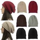 Women Wnter Knitted Hat Wool Cap Bonnet Hat Cap Head Cover Round Solid Headscarf