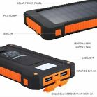 Portable Solar Power Bank 900000mAh Universal 2USB External Battery Charger USA