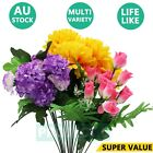 Artificial Fake Flowers Silk Leaves Floral Bunch Bouquet Leaf Wedding Home Decor