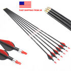 6PCS Linkboy Archery 3k Carbon Arrow Spine250-600 32inch ID 6.2mm Bow Hunting