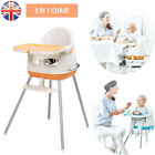 Portable Collapsible High Chair 3 in 1 Comfortable Table Seat For Baby Feeding
