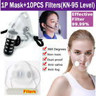 Wholesale Respirator Reusable Clear Washable Air Pollution Face Mask With Filter