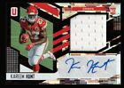 KAREEM HUNT /199 $120+ ROOKIE AUTO JERSEY PATCH PRIZMS #315 RC 2017 UNPARALLELED