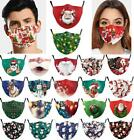 Christmas Print Adult Reusable Face Mask0 Mouth Nose Masks Breathable Washable