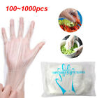 100/1000x Clear PE Plastic Gloves Latex and Powder Free Catering Food Cleaning