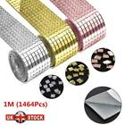 1m Mirror Glass Mosaic Tiles Self Adhesive Roll Wall Sticker Decal Home Decor Uk