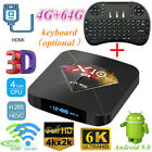 X10 PLUS Smart TV Box 4 64G WiFi Lot LCD 6K H6 Quad Core Player Android Keyboard