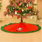 Christmas Tree Skirt Mat Flannelette Scene Merry Layout Supplies Party Decor Ho