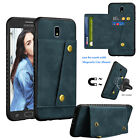For Samsung Galaxy J7 Crown/Refine/Star Case Leather Magnetic Mount Wallet Cover