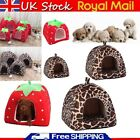 Pet Cat Dog Nest Bed Puppy Warm Cave House Winter Sleeping Igloo Kennel S-XL UK