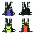 Reflective Tactical Front Chest Rig Bag Nylon Pouch Outdoor Sport Waterproof Us