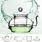 350mL-1000mL Heat Resistant Glass Teapot Infuser Infusing Tea Coffee Pot  R! R