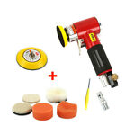 Air Sander Buffing Pad Kit Pneumatic Orbital Car Polisher Polishing Machine