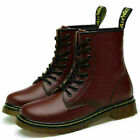 UK Adults Dr Doc Martin Boots Classic 8 Eyelet Boots White Black Red Ankle Boots