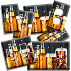 CRAFTED BEER BOTTLES AND MUGS LIGHT SWITCH OUTLET WALL PLATE KITCHEN DINER DECOR