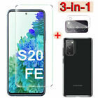 for Samsung Galaxy S20 FE 5G HD Tempered Glass Screen Protector + Lens Protector