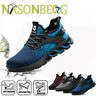 Mens Work Safety Shoes Steel Toe Cap Punctureproof Boots Indestructible Sneakers