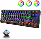 Rechargeable Wired/Wireless Bluetooth 60% Mechanical RGB Backlit Gaming Keyboard