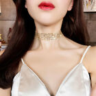 Sexy Gold Sliver Shining Sequins Mesh Wide Choker Necklace Fashion Women Jewelry