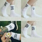Fuck-Off Funny Socks  Unisex Novelty Gift  Sport White Black Skateboard Socks
