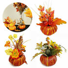 Halloween Artificial Fall Maple Leaf Pumpkin Garland Thanksgiving Ornament Decor