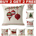 45X45CM Christmas Cushion Cover Pillow Case Home Sofa Bed Throw Case Decor Xmas