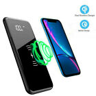 900000mAh Power Bank Qi Wireless External Battery Charger Portable Fast Charging