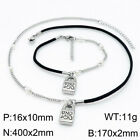 Fashion Brand Uno de 50 Jewelry Unisex Steel Link Chain Bracelet Necklace Sets