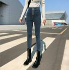 New Retro Women's High Waist Slim Jeans Lady Casual elastic Denim Pants Trousers