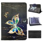 For RCA Digiland 10.1in Tablet Wireless Keyboard Butterfly Pattern Leather Case