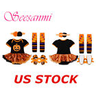 Baby Girls Romper Tutu Dress Halloween Costume Outfit Newborn Party 4PCS Clothes