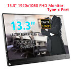 Portable 15.6'' INCH 2K FHD 4K Portable Monitor IPS Display HDR Screen 3840X2160