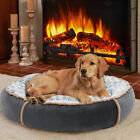 Soft Orthopedic Calming Dog Bed Relaxing Round Donut Bed Nest Cushion Waterproof