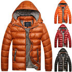 Mens Crosshatch Quilted Padded Jacket Coats Puffer Bubble Winter Hooded Outwear