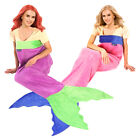 Blankie Tails Original Mermaid Tail Blanket Kids Adults Girls Boys Fleece Plush