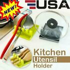 Kitchen Heat Resistant PP Spoon Rest Cooking Utensil Spatula Holder Tool