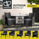Gardeon Outdoor Table And Chairs Patio Furniture Bistro Set Wicker Setting