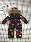 Duck down thick retro one-piece toddler suit British style raccoon fur2020Winter