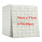 Large 3D Tile Brick Wall Sticker Self-adhesive Waterproof Foam Panel Wallpaper