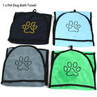 With Hand Pockets Pet Dog Bath Towel Washable Soft Microfiber Water Absorbent